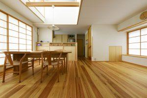 09小さな二世帯住宅_リビングルーム