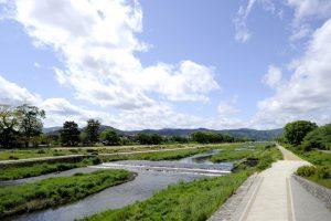 賀茂川沿いの景観